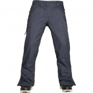 686 Authentic Raw Insulated Snowboard Pants - Midnight Blue Denim