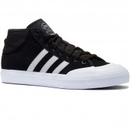 Adidas Matchcourt Mid Shoes - Black/Light Solid Grey/White