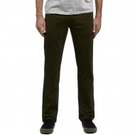 CCS Banks Straight Fit 5 Pocket Twill Pants - Dark Olive