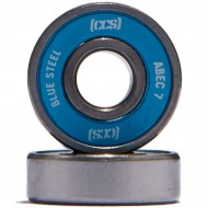 CCS Blue Steel Abec 7 Skateboard Bearings