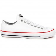 Converse CTAS Pro Canvas Shoes - White/Red/Navy