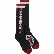 Independent Bar/Cross Tall Crew Socks - Black