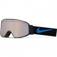 Nike Fade Snowboard Goggles - Black/Light Photo Blue with Silver Ion