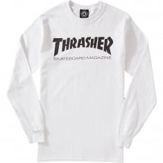 Thrasher Skate Mag Long Sleeve T-Shirt - White