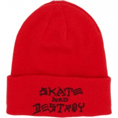 Thrasher Sad Embroidered Beanie Beanie - Red