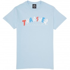 Thrasher Knock Off T-Shirt - Light Blue
