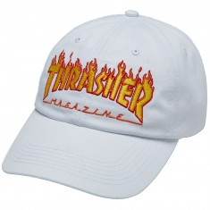 Thrasher Flame Old Timer Hat - White