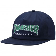 f101a39e8 Thrasher Outlined Snapback Hat - Navy