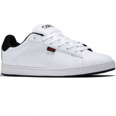 DVS Revival 2 Shoes - White/Black/Red Leather
