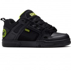 DVS Comanche Shoes - Black/Lime Leather Nubuck