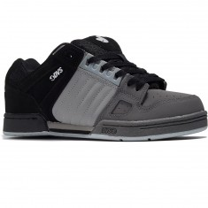 DVS Celsius Shoes - Black/Charcoal/Grey Leather Nubuck