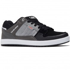 DVS Portal Shoes - Charcoal/Grey Leather Nubuck