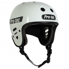 Protec Full Cut Certified Helmet - Gloss White