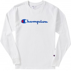 Champion Logo Long Sleeve T-Shirt - White