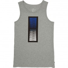 Nike SB Repeat Line Tank Top - Dark Grey Heather/Black