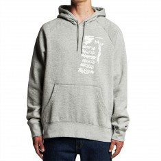 Nike SB Script Icon Hoodie - Dark Grey Heather/White