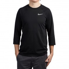 Nike SB Dri-Fit GFX 3/4 Sleeve Shirt - Black/Black/White