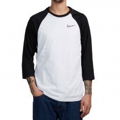 Nike SB Dri-Fit GFX 3/4 Sleeve Shirt - White/Black/Black