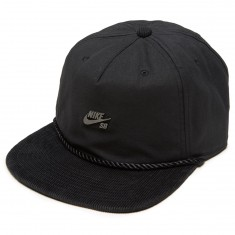 Nike SB Waxed Canvas Pro Hat - Black/Black/Cool Grey