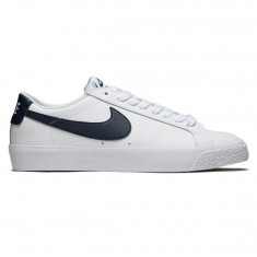 Nike SB Air Zoom Blazer Low Shoes - White/Obsidian