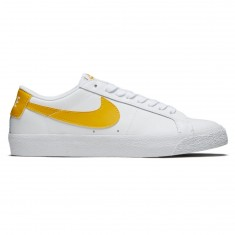 Nike SB Air Zoom Blazer Low Shoes - White/Mineral Gold