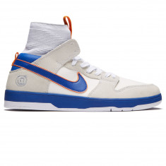 Nike SB x Medicom Dunk High Elite QS Shoes - White/College Blue/Gold Post