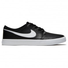 Nike SB Solarsoft Portmore II Shoes - Black/White
