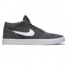 Nike SB Solarsoft Portmore II Mid Shoes - Dark Grey/White