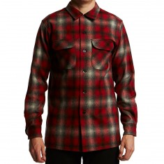 Pendleton Fitted Longsleeve Board Shirt - Red/Grey Ombre