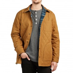 Pendleton Reversible Canvas Jacket - Tan Canvas/Indigo Stripe