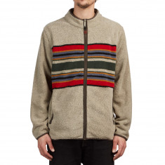Pendleton Camp Stripe Zip Up Sweater - Mineral Umber