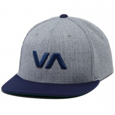 RVCA VA Snapback Hat - Grey Heather/Navy
