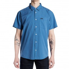 RVCA Front Lawn Shirt - Dark Blue