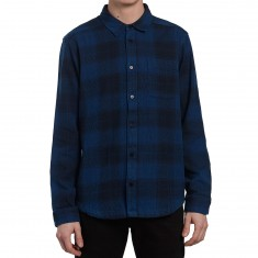 RVCA Pressured Long Sleeve Shirt - Faded Indigo