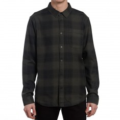 RVCA Pressured Long Sleeve Shirt - Faded Black