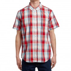 RVCA Stanek Plaid Shirt - Pompei Red