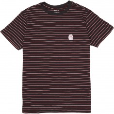 RVCA Barry Stripe T-Shirt - Pirate Black
