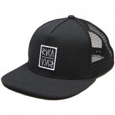 RVCA Slash Box Trucker Hat - Black