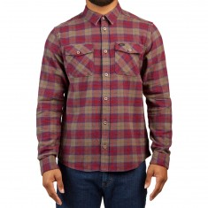 RVCA Thatll Work Flannel Shirt - Red