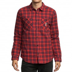 RVCA x Toy Machine Thickness Longsleeve Shirt - Red