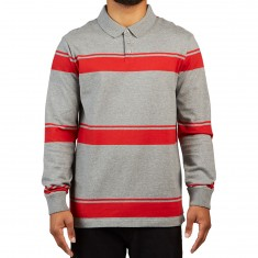 RVCA Kl Rugby Shirt - Grey Noise