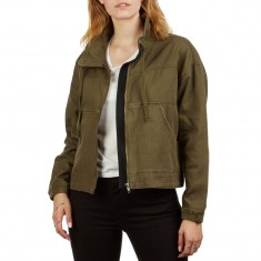 c14500410 RVCA Womens Skyway Jacket - Army Drab