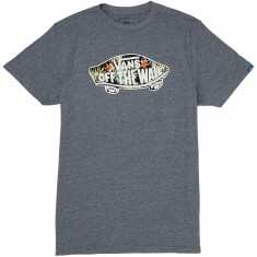 Vans OTW Logo Fill T-Shirt - Heather Grey/Black Decay Palm