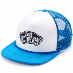 Vans Classic Patch Trucker Hat - White/Imperial Blue