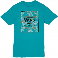Vans Print Box T-Shirt - Teal/Baltic Decay Palm