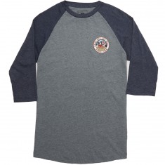 Vans Bear Patch Raglan T-Shirt - Heather Grey/Heather Navy