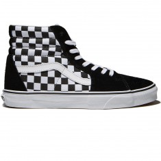 Vans Sk8-Hi Checkerboard Shoes - Black/True White