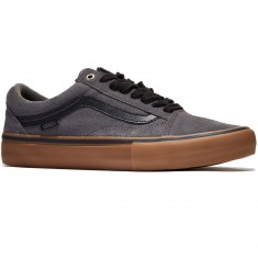 Vans Old Skool Pro Shoes - Grey/Black/Gum
