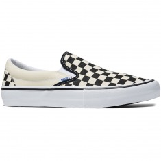 Vans Slip-On Pro Shoes - Checkerboard Black/White