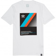 Adidas VHS Block T-Shirt - White/Black/Energy Blue